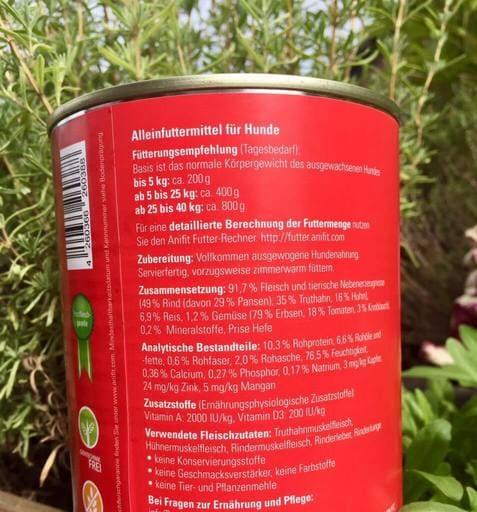 Futtermittel-Deklaration