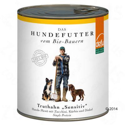 defu bio Nassfutter für Hunde, mit Truthahn