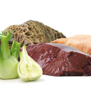 Bio-Barf-Menue, Pansen Süßkartoffel Fleisch und Fenchel