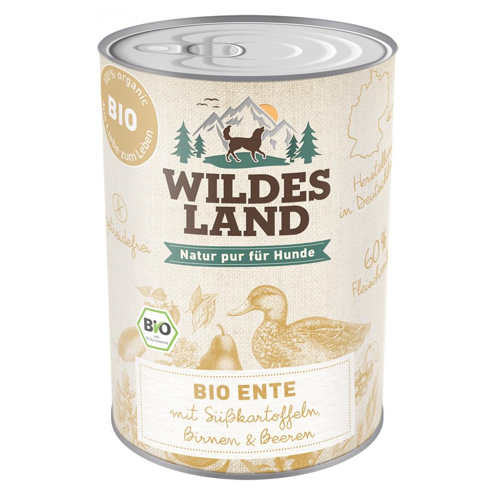 Wildes Land Nassfutter BIO Ente mit Süßkartoffel