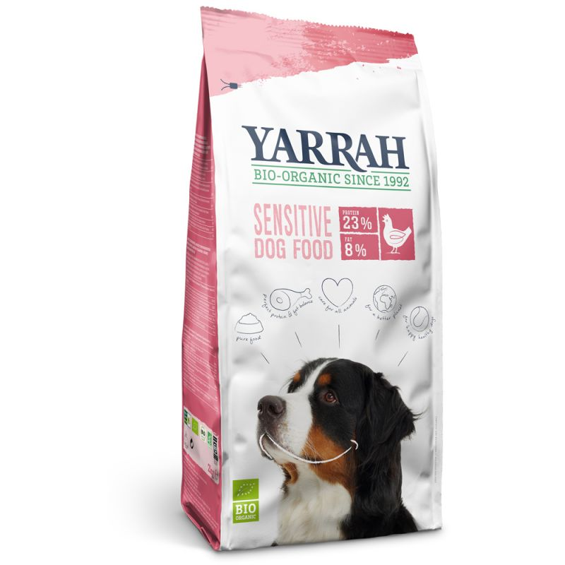 Yarrah Sensitiv Bio Trockenfutter für Hunde