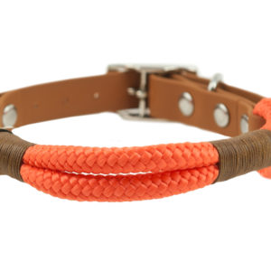 Hundehalsband orange aus Tau